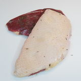 Duck breast, seasoned raw freshly slaughtered by the bio farm pr. Epared vacuuming and smoking Royalty Free Stock Photo