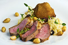 Duck breast steak with couscous Royalty Free Stock Images