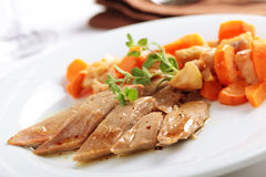 Duck breast with vegetables Royalty Free Stock Images