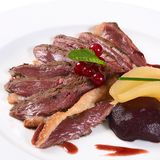 Duck breast in wine sauce Royalty Free Stock Photography