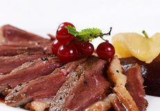 Duck breast in wine sauce Royalty Free Stock Photos