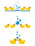 Duck with bubble Royalty Free Stock Images