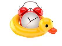Duck buoy with alarm clock Royalty Free Stock Photo