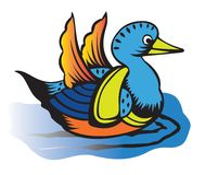 Duck cartoon Royalty Free Stock Photography
