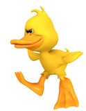 Duck cartoon angry Stock Photos