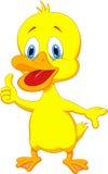 Duck cartoon thumb up Stock Photography