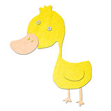Duck cartoon tissue papercraft Stock Images