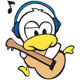Duck character Royalty Free Stock Images