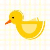 Duck - childish pattern stock photo