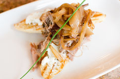 Duck Confit Bruschetta Royalty Free Stock Images