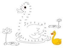 Duck Connect i punti ed il colore illustrazione di stock
