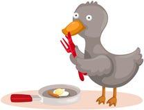 Duck cooking egg Stock Photos