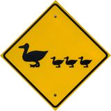 Duck Crossing Sign. In Chesapeake Beach, Maryland USA royalty free stock photography