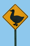 Duck Crossing Sign Stock Image