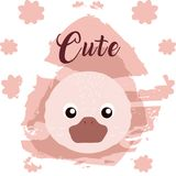Duck cute animal cartoon royalty free illustration