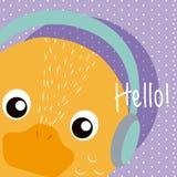 Duck Cute animal cartoon vector illustration