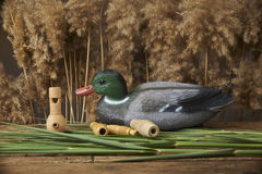 Duck decoys and whistles Royalty Free Stock Photos