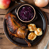 Duck with dumplings and pickled plum Stock Photography