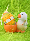 Duck and easter egg Royalty Free Stock Images