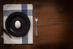 Duck egg flat lay still life rustic with food stylish Royalty Free Stock Photography