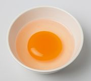 Duck egg yolk Stock Images