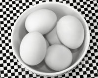 Duck eggs in bowl Stock Photos