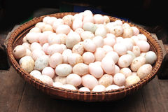 Duck eggs. Many fresh duck eggs as background Stock Image