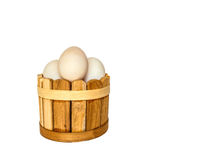 Duck eggs on white background with clippingpath Stock Photography