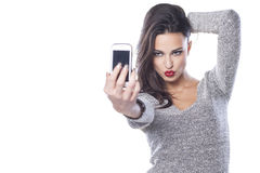 Duck face selfie Royalty Free Stock Images