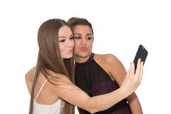 Duck face selfie Royalty Free Stock Photography