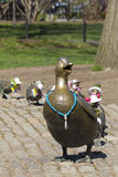 Duck Family. Little sculpture of a duck family is the symbol and landmark of Boston Public Garden in Massachusetts, USA royalty free stock images