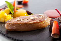Duck Fillet on Black Stone Royalty Free Stock Photo