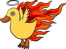 Duck fire vector. Graphic, goldfish vector ,goldfish drawing Royalty Free Stock Photography
