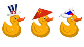 Duck flags royalty free illustration