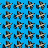 Duck flies. Seamless texture of the image ornamental flying ducks Royalty Free Stock Images