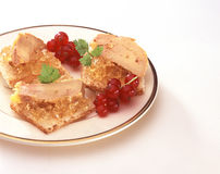 Duck foie gras on toast Royalty Free Stock Photos