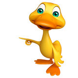Duck funny cartoon character Stock Photos