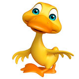Duck funny cartoon character Royalty Free Stock Photos