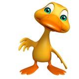 Duck funny cartoon character Stock Photography