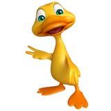 Duck funny cartoon character Royalty Free Stock Photo
