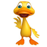 Duck funny cartoon character Stock Photography