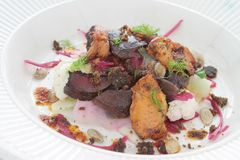 Duck gizzard appetizer Royalty Free Stock Image