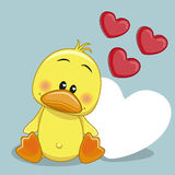 Duck with hearts Royalty Free Stock Images