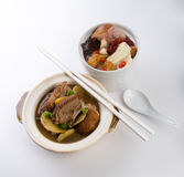 Duck and herb soup, Chinese food style. Stock Image