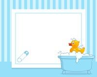 Duck Horizontal Boy Photo Frame en caoutchouc Photographie stock libre de droits