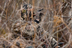 Duck hunter royalty free stock photography