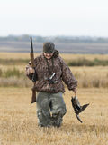 Duck Hunter. A young hunter with a Mallard Stock Photos