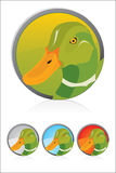 Duck icon. Vector Mallard illustration icon Cartoon Royalty Free Stock Photo