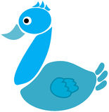 Duck in icon Stock Images