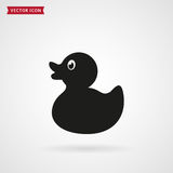 Duck icon. Rubber duck icon isolated on white background. Baby toy. Vector illustration royalty free illustration